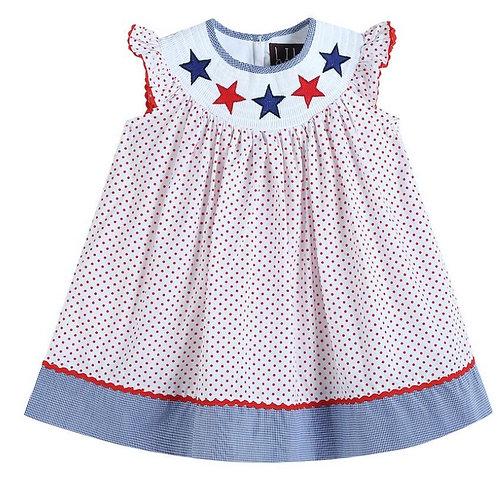Lil Cactus Americana Polka Dot Dress