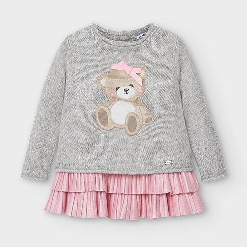 Mayoral Bear Sweater Dress 3PC Set