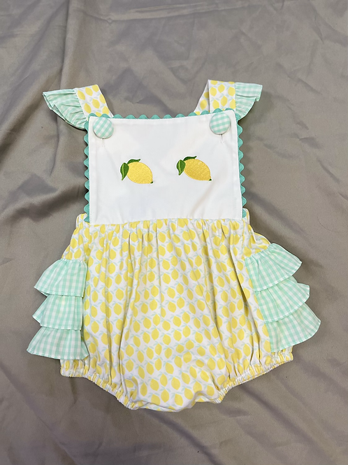 Three Sisters Lemonade Bubble Romper