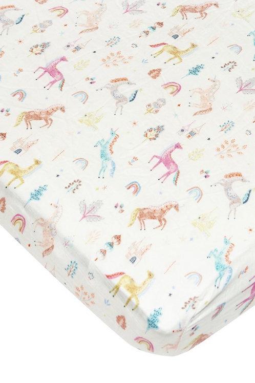 Lulu Lollipop Unicorn Fitted Crib Sheet