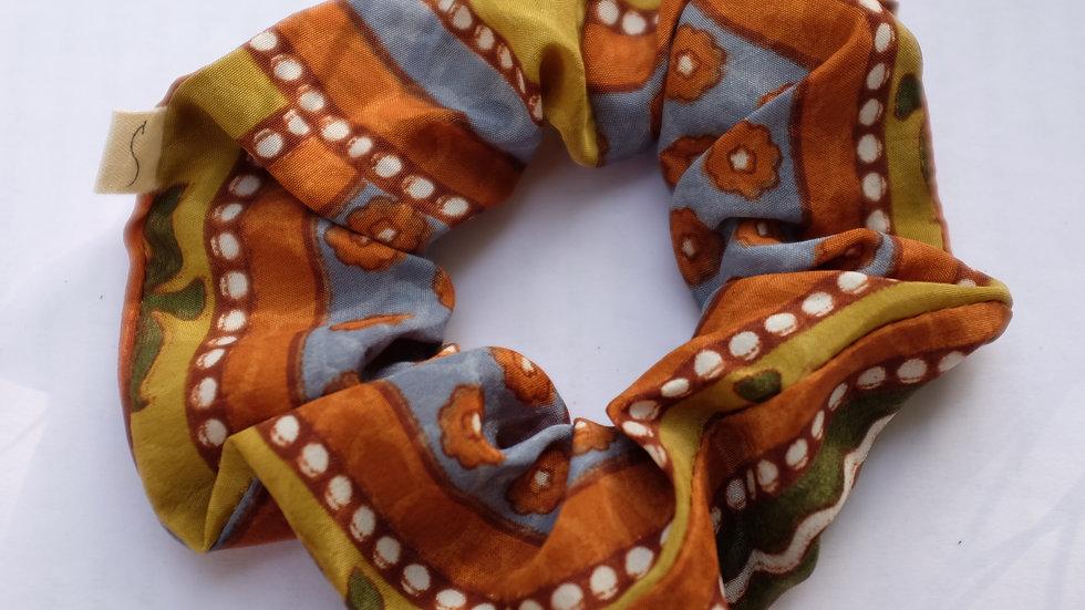 Earthtone Sari Scrunchie Set