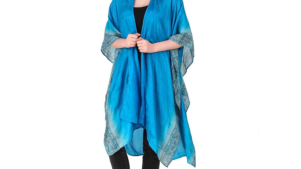 Blue Vintage Sari Kimono