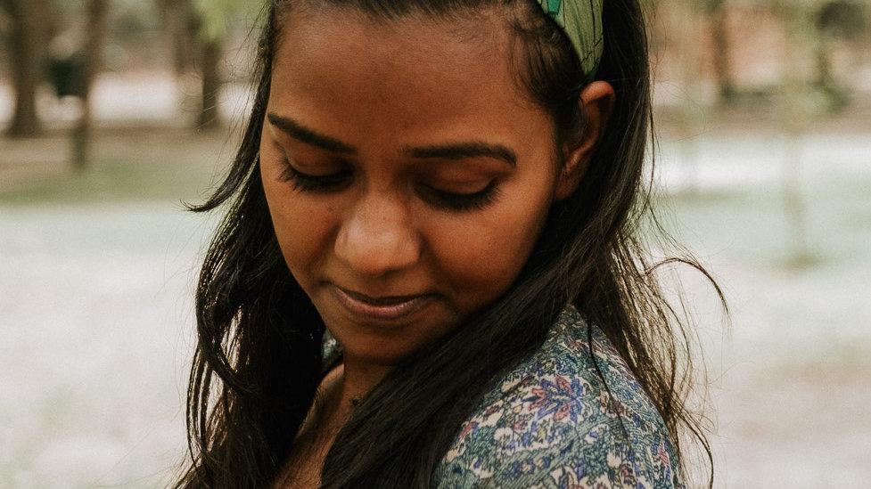 Green Vintage Sari Headband