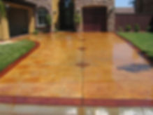 Acid Stained Concrete Driveway
