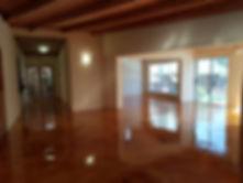 Micro-Crete Concrete Flooring with a Tan Concrete Acid Stain by Concretewise.