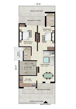 Floor on 115 Sq. Yard - Plot