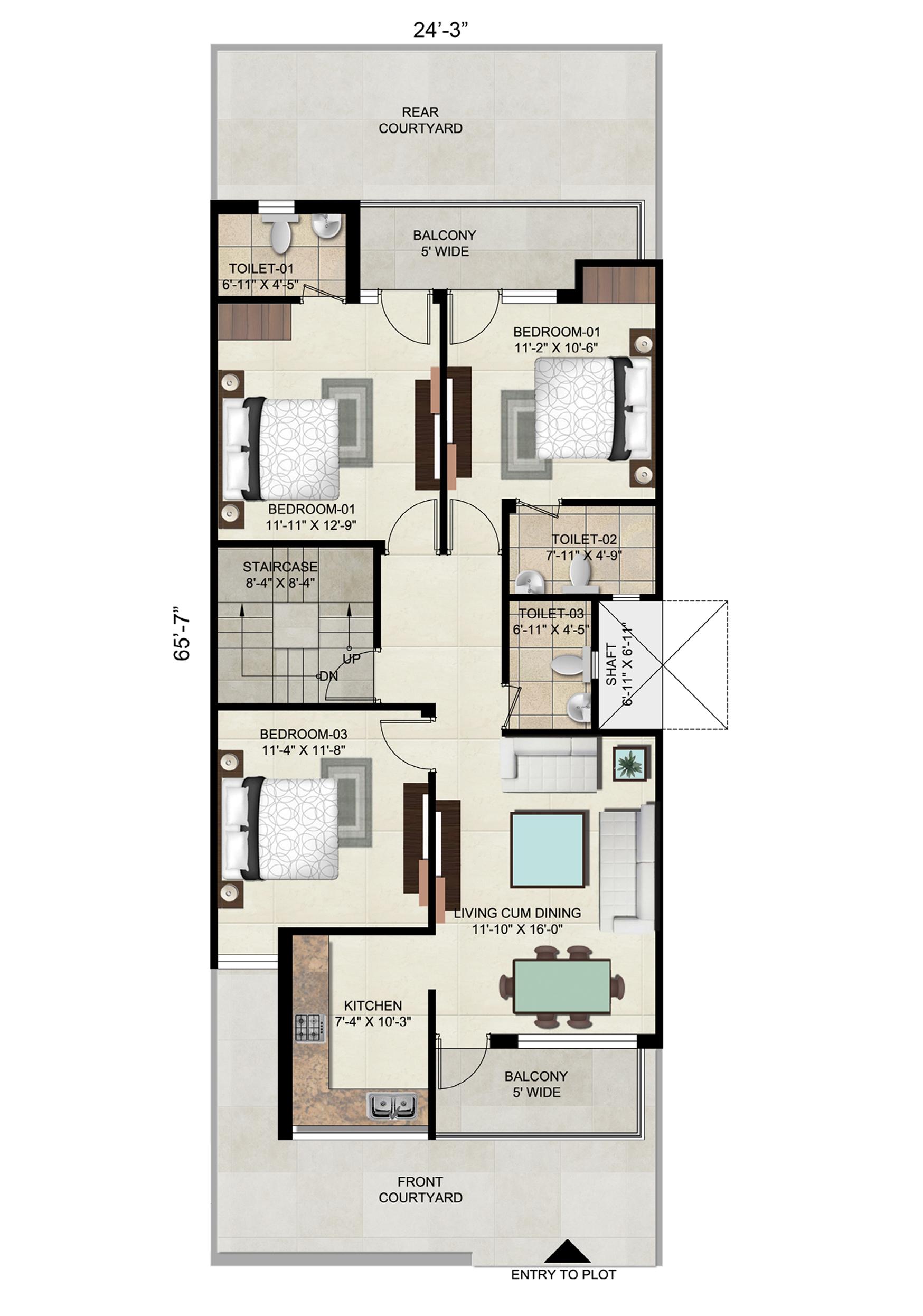 Floor on 177 Sq. Yard - Plot