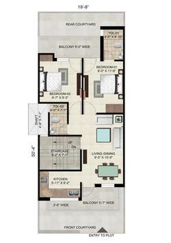 Floor on 110 Sq. Yard - Plot