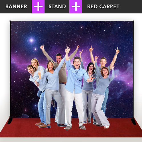 Step & Repeat Banner + Stand + Red Carpet
