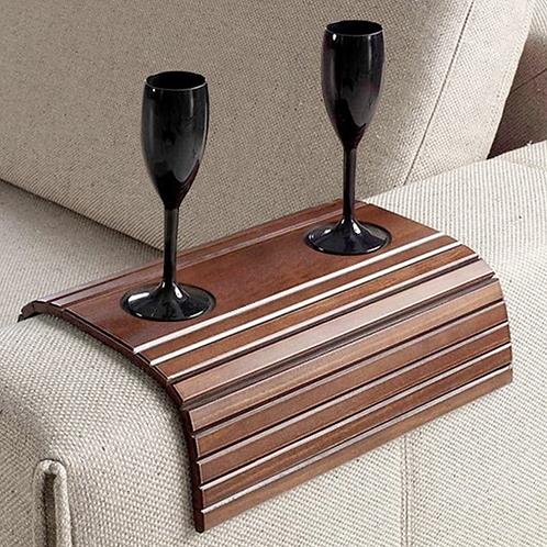 Esteira para sofá com porta copos