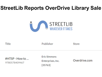 StreetLib Reports Library OverDrive Sale