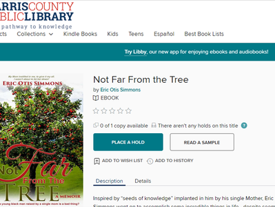 """Harris County Public Library Adds """"Not Far From The Tree"""""""