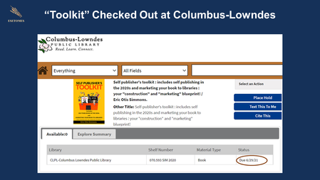 """""""Toolkit"""" Checked Out at Columbus-Lowndes Library"""