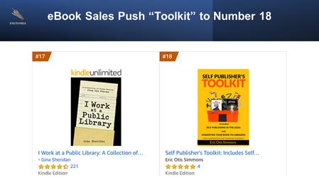 """Self Publisher's Toolkit"" #18 on Amazon"