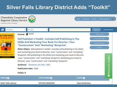 "Oregon Library Adds ""Toolkit"""