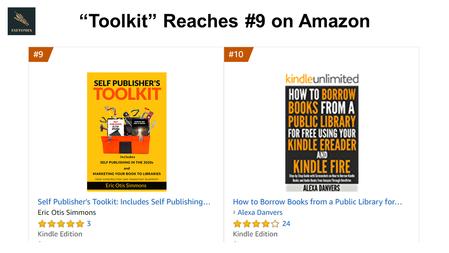 """Self Publisher's Toolkit"" #9 on Amazon"
