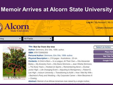 Memoir Arrives at Alcorn State