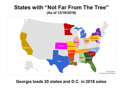 """Georgia Leads 20 States in """"Not Far From The Tree"""" Sales"""