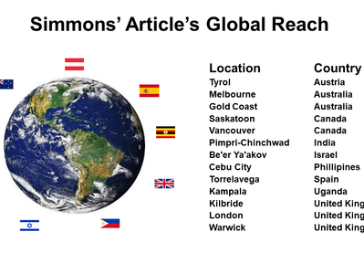 Simmons' Library Article's Global Reach
