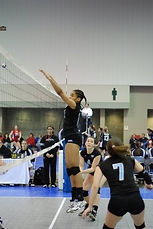 Volleyball Player Blocking