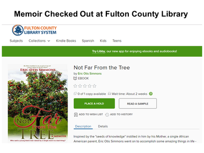Fulton County Library System Has Memoir Checked Out