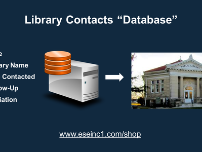 """Library Contacts """"Database"""" Update"""