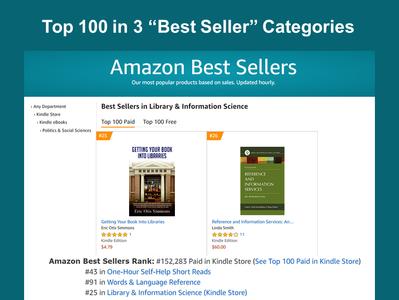 """New Book in """"Top 100"""" in 3 """"Best Seller"""" Categories"""