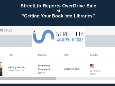 "StreetLib Reports Sale of ""Getting Your Book Into Libraries"""