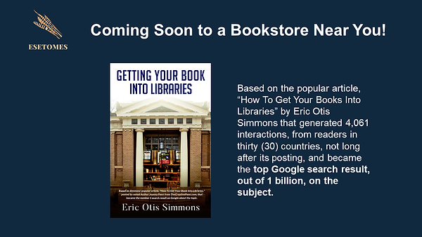 Getting Your Book Into Libraries - Comin