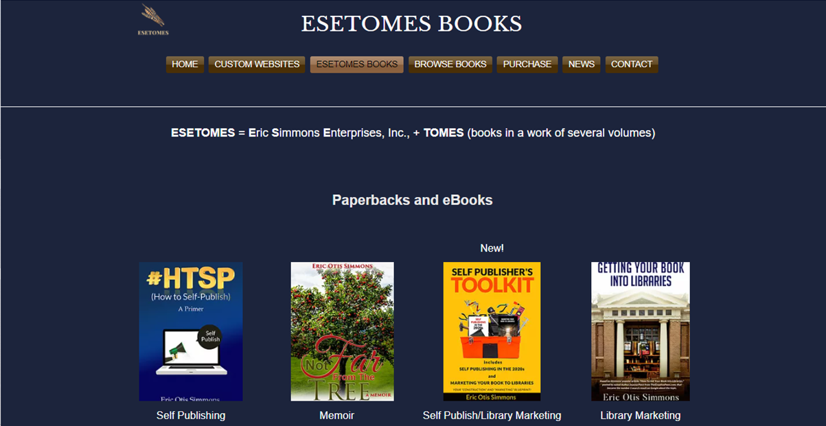 Author Site Screenshot 2