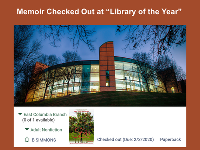 Memoir Checked Out at Library of The Year
