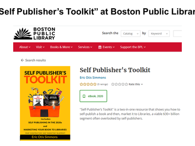 """""""Self Publisher's Toolkit"""" at Boston Public Library"""