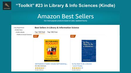 """Self Publisher's Toolkit"" #23 on Amazon"