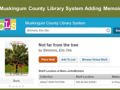 """Library Adding """"Not Far From The Tree"""""""