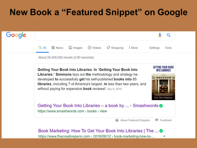 """New Book a """"Featured Snippet"""" on Google"""
