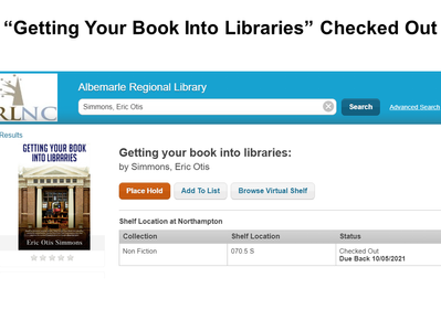 """""""Getting Your Book Into Libraries"""""""