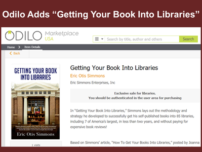 """Odilo Offering """"Getting Your Book Into Libraries"""""""