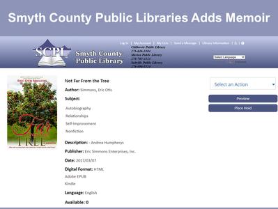 Another Virginia Library Adds Memoir