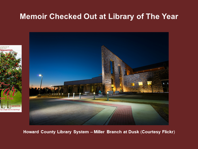 """Memoir Checked Out at """"Library of the Year"""""""