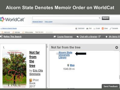 Alcorn State Denotes Memoir Order on WorldCat
