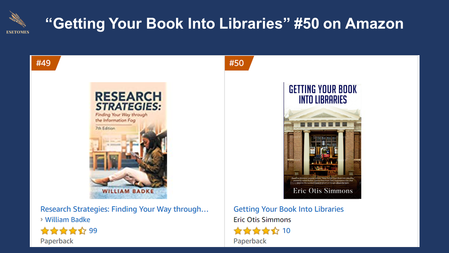 """""""Getting Your Book Into Libraries"""" #50 on Amazon"""