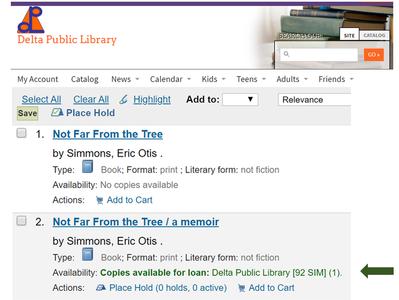 Delta Public Library Places Second Order