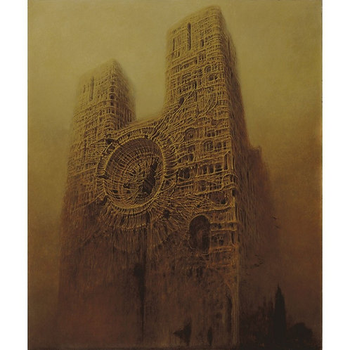 BEKS0026s - Reproduction of Zdzisław Beksiński's painting on canvas