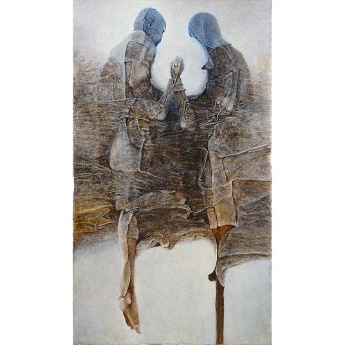 BEKS0048s - Reproduction of Zdzisław Beksiński's painting on canvas