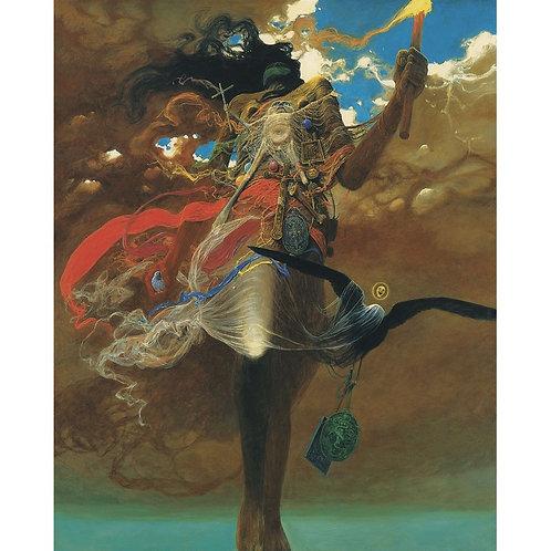 BEKS0010s - Reproduction of Zdzisław Beksiński's painting on canvas