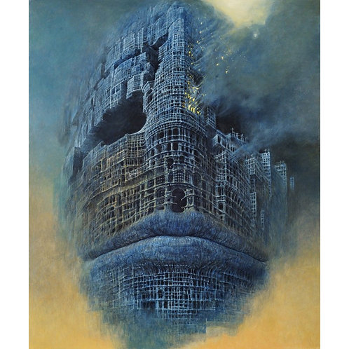BEKS0003s - Reproduction of Zdzisław Beksiński's painting on canvas
