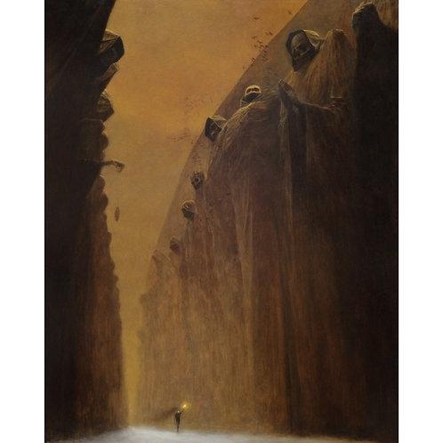BEKS0013s - Reproduction of Zdzisław Beksiński's painting on canvas