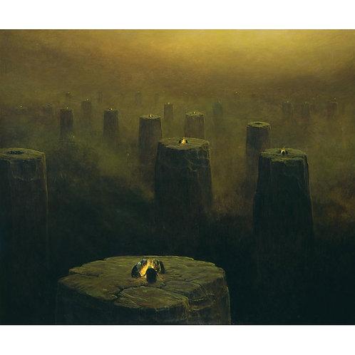 BEKS0060s - Reproduction of Zdzisław Beksiński's painting on canvas