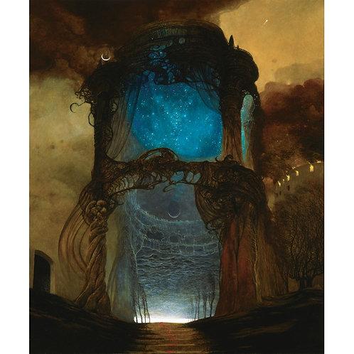 BEKS0058s - Reproduction of Zdzisław Beksiński's painting on canvas