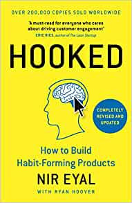Hooked: How to Build Habit Forming Products by Nir Eyal Book Cover